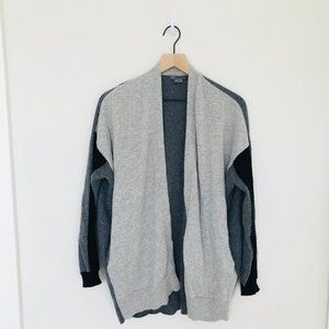 Vince Grey & Black Cardigan Size Medium